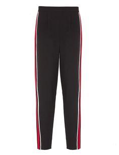 Black Stripe Side Pants - Varsity Chic Pants -