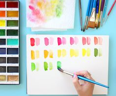 watercolor painting - color chart