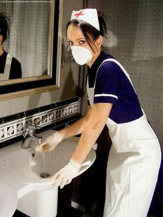 """rubberglovesrule: """" justgloves: """" hard worker nurse """" She's so beautiful in any kind of gloves """" Rubber Gloves, Latex Gloves, Operating Room Nurse, Pvc Apron, Beautiful Nurse, Cute Nurse, Maid Uniform, Medical Uniforms, White Face Mask"""
