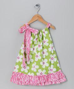 Molly Pop Inc. Lime Flower Dress - Infant, Toddler & Girls