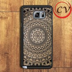 Pattern Aztec Logo Samsung Galaxy Note 6 Case