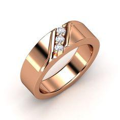 6758b9881b6e The Slash Ring  customizable  jewelry  diamond  rosegold  mens  ring Mens