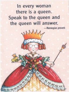 Speak to the Queen - Mary Engelbreit Mary Engelbreit, Red Hat Society, Queen Of Everything, Red Hats, Illustrators, Whimsical, My Arts, Merry, Mittens