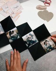 Birthday Gifts For Boyfriend Diy, Boyfriend Crafts, Diy Anniversary Cards For Boyfriend, Scrapbook Ideas For Boyfriend, Gift For Boyfriend, Birthday Surprise For Girlfriend, Creative Gifts For Boyfriend, Anniversary Surprise, Diy Crafts For Gifts