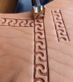 01313 MEANDER rounded Leather stamp homemade Custom by Toolpaw