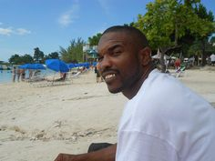 My baby at the beach in Jamaica