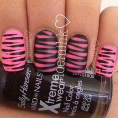 Pink and black zebra