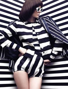 "Spring's black-and-white #trend gets the Op art treatment with our ""High Contrast"" photo shoot. See it here: http://www.fashionmagazine.com/blogs/fashion/2013/04/17/may-2013-high-contrast-photo-shoot/"