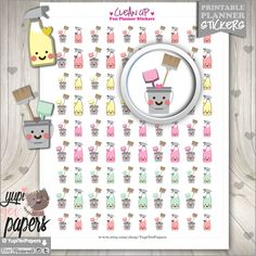Clean Up Stickers Printable Planner Stickers by YupiYeiPapers