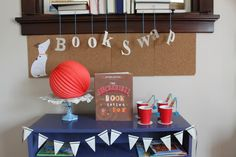 50 BEST Back to School Celebration Ideas at I Heart Naptime! #party #bts--Next year for back to school night... book swap anyone?