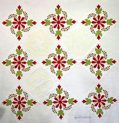 Love this pattern!  Some call it Coxcomb & Currants, some call it Flowering Almond. I've also seen it called Poinsettia.   Gorgeous.