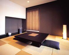 和室 アクセントウォール イメージ Modern Japanese Interior, Modern Japanese Architecture, Japanese Furniture, Japanese Living Rooms, Japanese House, Floor Design, House Design, Tatami Room, Zen Room