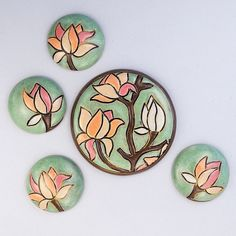 Blooming magnolia by golemstudio on Etsy