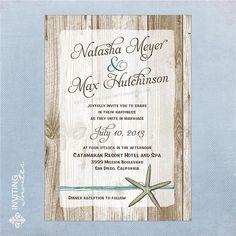 Starfish Wedding Invitation Destination Beach by InvitingInvites, $15.00