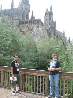me and my mom and susie at the hogwart's castle