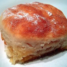 7-Up Biscuits Recipe- only four ingredients: 7-up (or Sprite), sour cream, butter and bisquick!