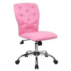 Boss Tiffany Pink Microfiber Chair