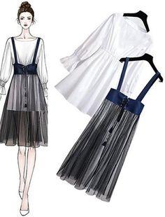 Bản Phác Hoạ draft - SeoulSugar Kpop Fashion Outfits, Ulzzang Fashion, Mode Outfits, Cute Fashion, Look Fashion, Girl Fashion, Korean Fashion Trends, Korea Fashion, Asian Fashion