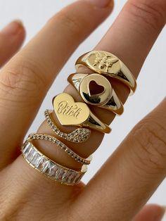Nail Jewelry, Trendy Jewelry, Cute Jewelry, Gold Jewelry, Jewelry Accessories, Fashion Jewelry, Cute Rings, Pretty Rings, Piercings