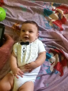"""Cynthia's Cynfully Spiffy Stuff: Crochet Pattern: Tuxedo Baby Bib- Free Pattern  All """"dressed up"""", this guy is """"going places"""" like this blog!!"""