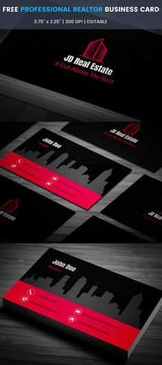 40 creative real estate and construction business cards designs professional realtor business card full preview malvernweather Images