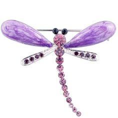 Purple Enamel Amethyst Dragonfly Insect Pin Brooch Fantasyard. $8.99. Gift box available for an additional fee. Please check out through gift-wrap option. Exquisitely detailed designer style. Other color available. Save 49%!