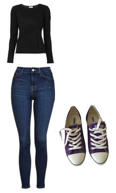 """""""Danny"""" by hopecobb ❤ liked on Polyvore featuring Frame, Topshop and Converse"""