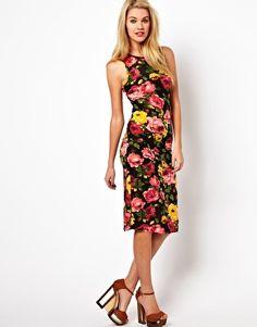 Glamorous Midi Dress In Floral Print 15.62 euros