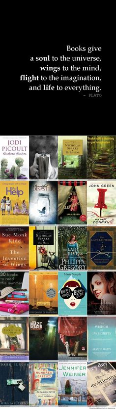 Other pinner: 100 Books Worth Reading. I'm gonna need to make a list. I can already see three or four books that I want to read from this picture! I Love Books, Great Books, Books To Read, My Books, Book Club Books, I Love Reading, Reading Lists, Book Lists, Reading Books