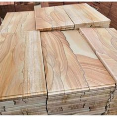 Natural Honed Yellow Wooden Sandstone China Supplier - Stone2Buy.com