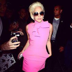 "Lady Gaga definitely did ""rock it"" in this gorgeous pink mini dress!"
