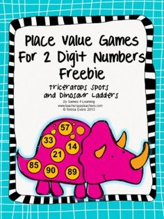 FREEBIE Place Value Games for 2 Digit Numbers Freebie - from Games 4 Learning This contains 2 printable Place Value Games for 2 Digit Numbers.