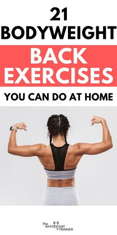 Here are the best bodyweight back exercises you can do at home. I'll also show you a simple workout you can do anywhere. Bodyweight Back Workout, Calisthenics Workout, Floor Workouts, Easy Workouts, At Home Workouts, Full Back Workout, Boxing Workout, Workout Plans, Beginner Workout At Home
