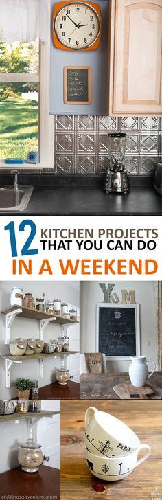 Kitchen projects, DIY kitchen, kitchen remodel, kitchen upgrades, popular pin, easy kitchen, DIY home decor, kitchen organization, DIY organization, DIY kitchen.