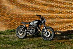 """1979 Yamaha XS400 """"black and tan"""" by Hold Fast Motors  Please let us know what you think, by sharing! The 100th reblog or like will get a free Hold Fast Motors """"Till Death Do Us PARTS"""" t-shirt.  Thanks again for all the love this past year, I could not have finished this bike with out the inspiration from everyone!"""