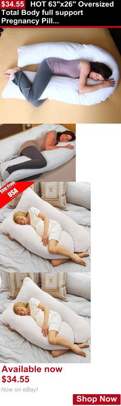Feeding Boppy Pillows: Hot 63X26 Oversized Total Body Full Support Pregnancy Pillow U Shape Comfort# BUY IT NOW ONLY: $34.55