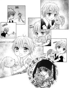 Gakuen Alice. Him and Mr. Bear are so cute together.