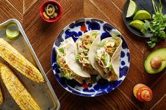 Sheet-Pan Crispy Fish Tacos With Chili-Roasted Corn / Photo by Chelsea Kyle, Food Styling by Ali Nardi