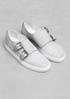 Cracked Leather Sneakers | White