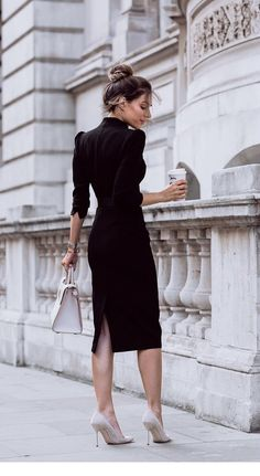 Kleider 25 style office outfits that your In addition to the size of a kitchen sink, Women Business Attire, Office Attire Women, Work Attire, Business Casual, Business Fashion, Office Style Women, Black Work Outfit, Business Lady, Business Dresses