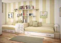 guest room/ extra room ideas - if we ever decide to convert the office into a guest room (and move the office elsewhere) that room is so long and narrow, this would be a great solution