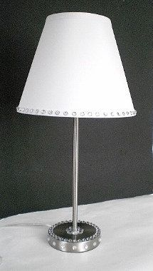Silver Lamp Shades Simple Girly Glam Lamp With White Lamp Shade Fiery Coral Arosemaryhome Decorating Design