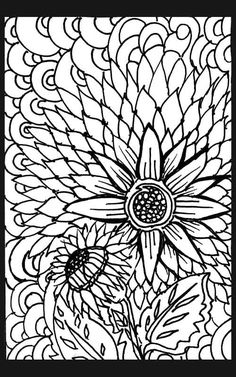 World of flowers coloring book
