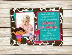 Adorable Little Explorer Girl Jungle by MonkeyDoodleParties, $10.00