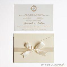 Convite de Casamento Onda Marfim