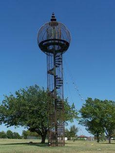 "Bruce Goff ""Space Rocket"" in Sooner Park, Bartlesville, OK. We played in it as kids."