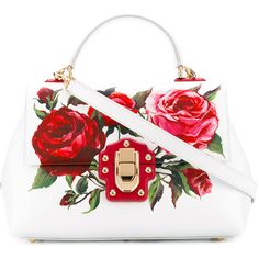 Dolce & Gabbana Handbag (131.450 RUB) ❤ liked on Polyvore featuring bags, handbags, white, tote handbags, leather cross body purse, leather cross body handbags, leather handbags and leather tote handbags