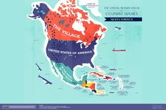 The Literal Translation of North American Country Names