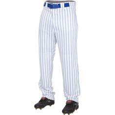 Rawlings Youth Plated Insert Pinstripe Baseball Pants, Boy's, Size: Medium, White