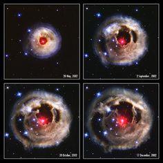 Hubble telescope : unusual stellar outburst